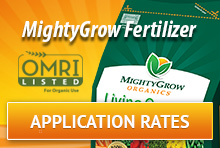 Mighty Grow Application Rates